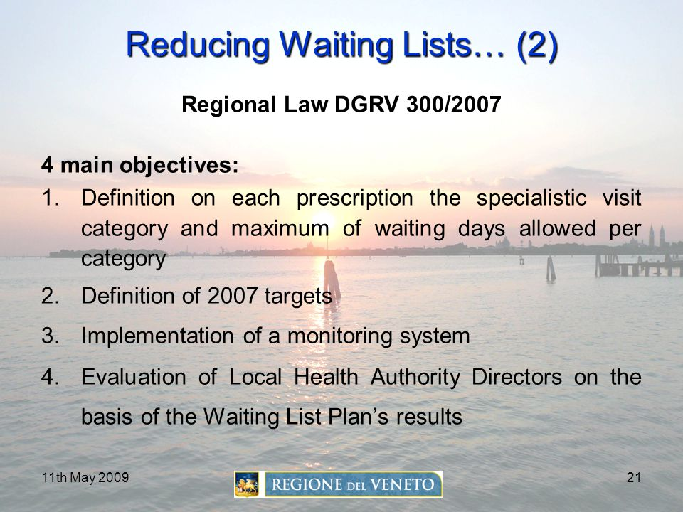 Reducing Waiting Lists… (2)