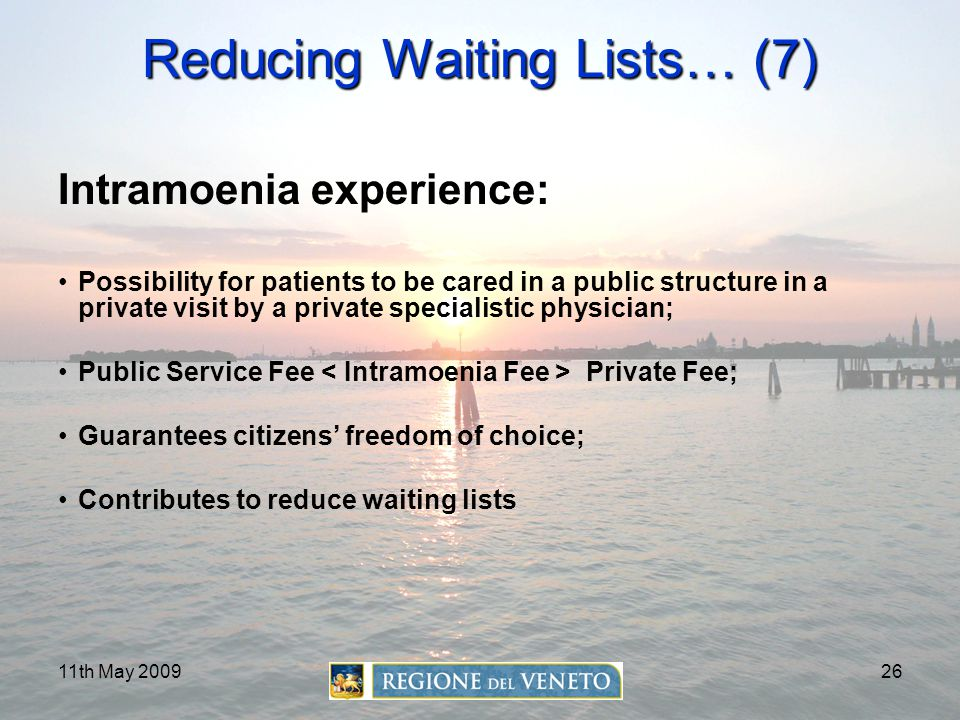 Reducing Waiting Lists… (7)