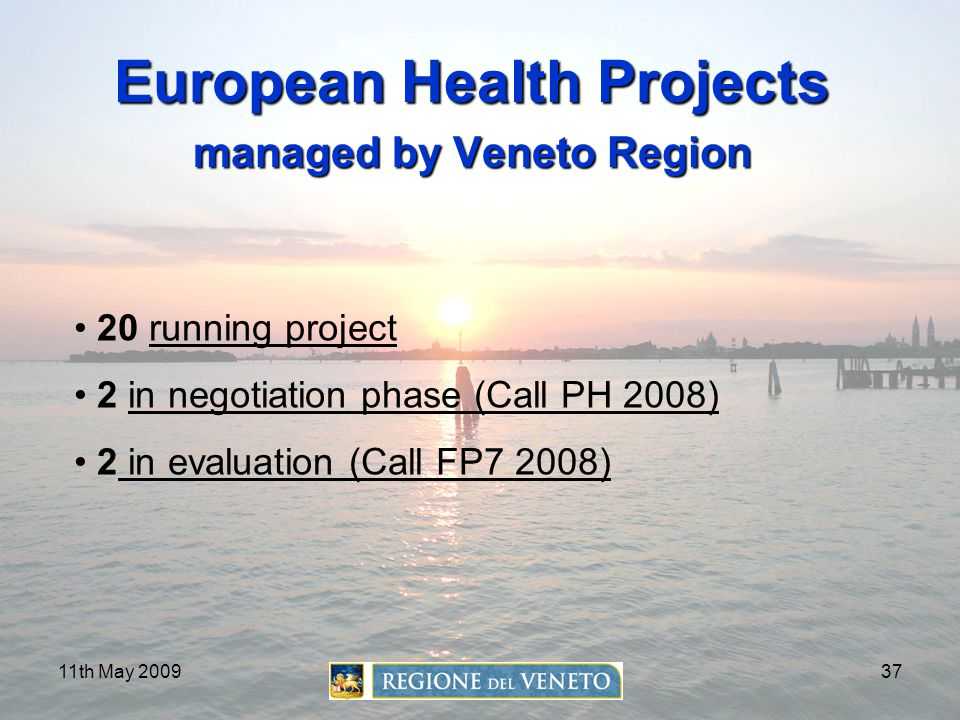 European Health Projects managed by Veneto Region