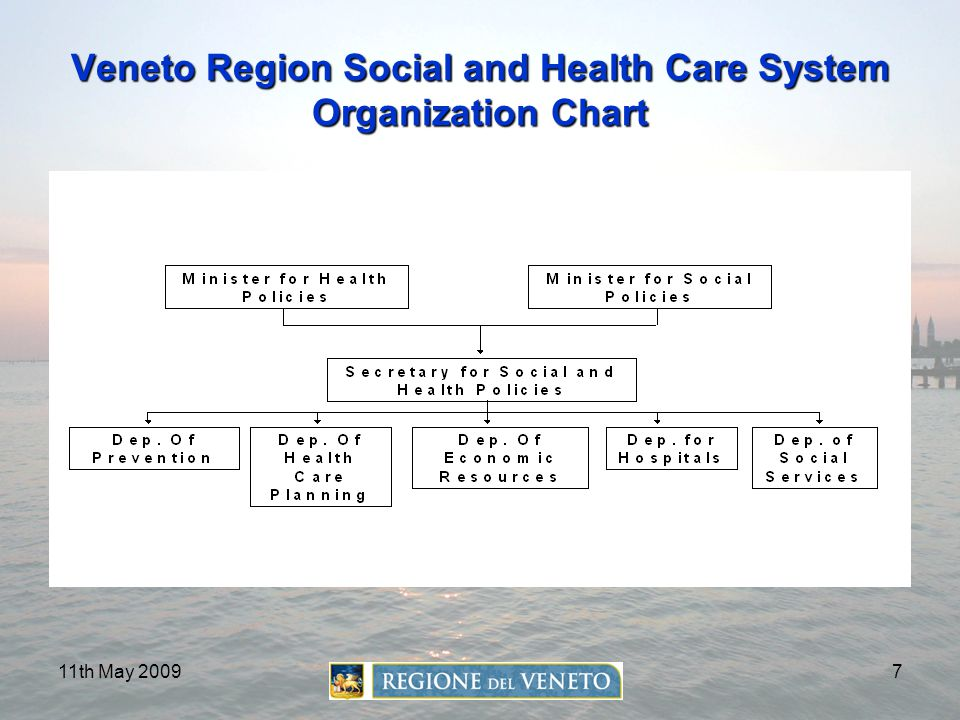 Veneto Region Social and Health Care System Organization Chart