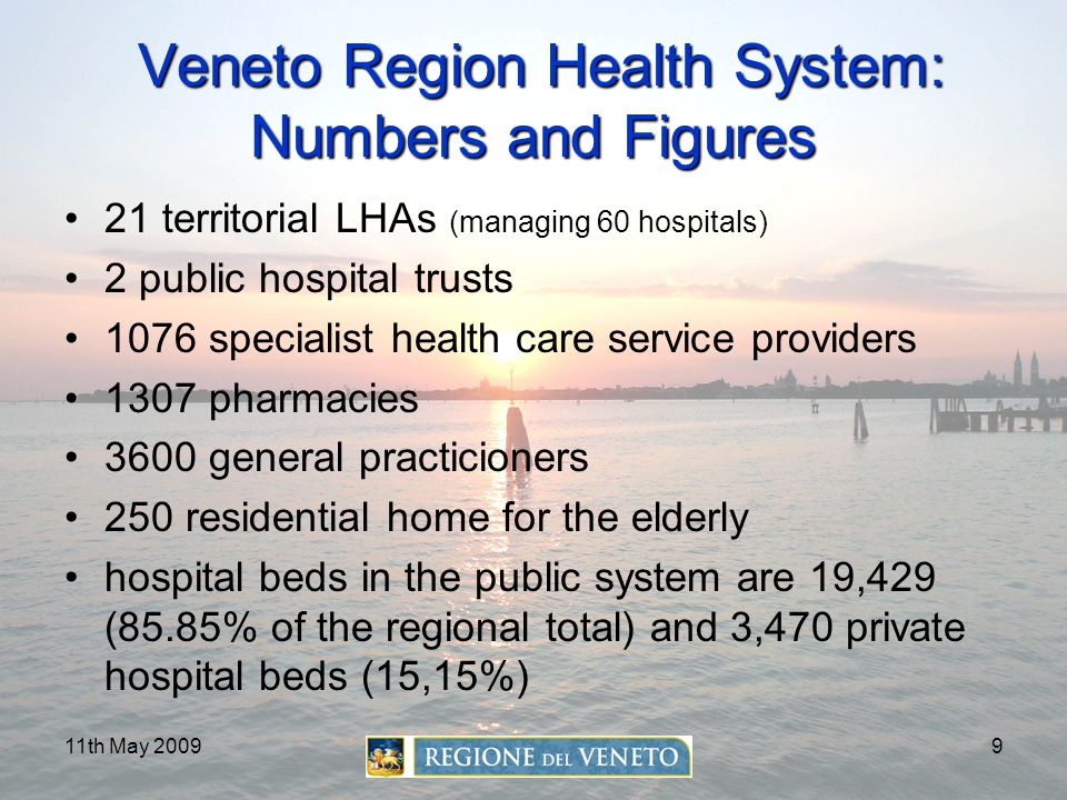 Veneto Region Health System: Numbers and Figures