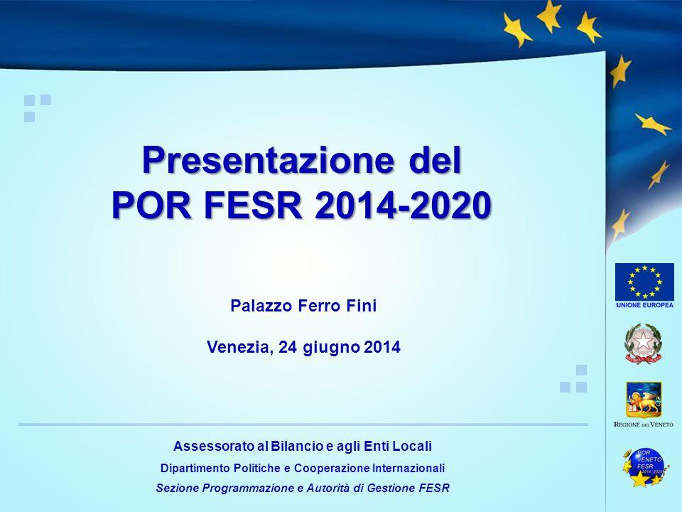 Presentazione del POR FESR 2014-2020