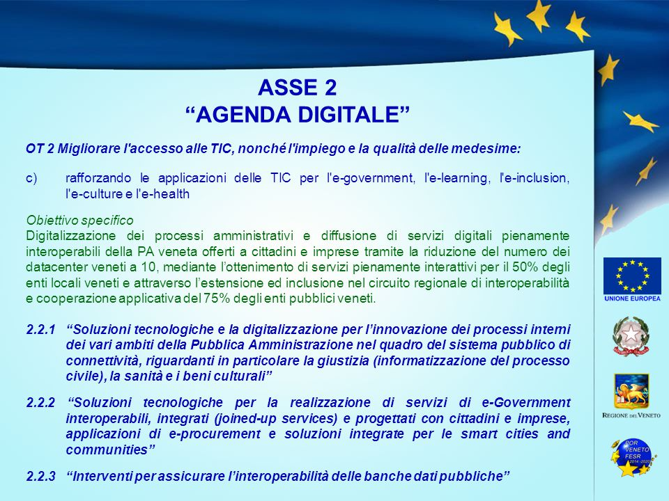 ASSE 2 AGENDA DIGITALE