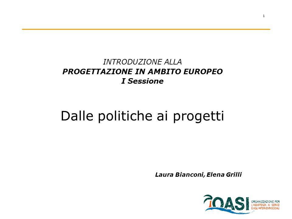 PROGETTAZIONE IN AMBITO EUROPEO