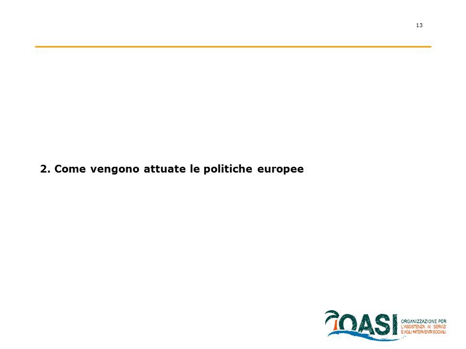 2. Come vengono attuate le politiche europee