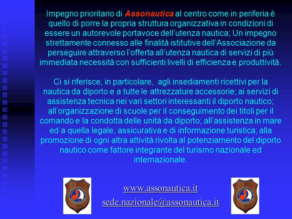 www.assonautica.it sede.nazionale@assonautica.it
