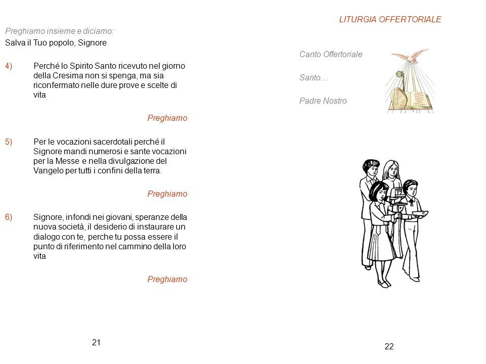 LITURGIA OFFERTORIALE
