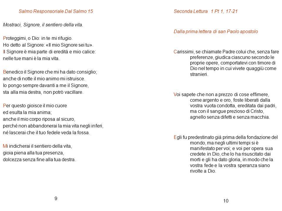 Salmo Responsoriale Dal Salmo 15