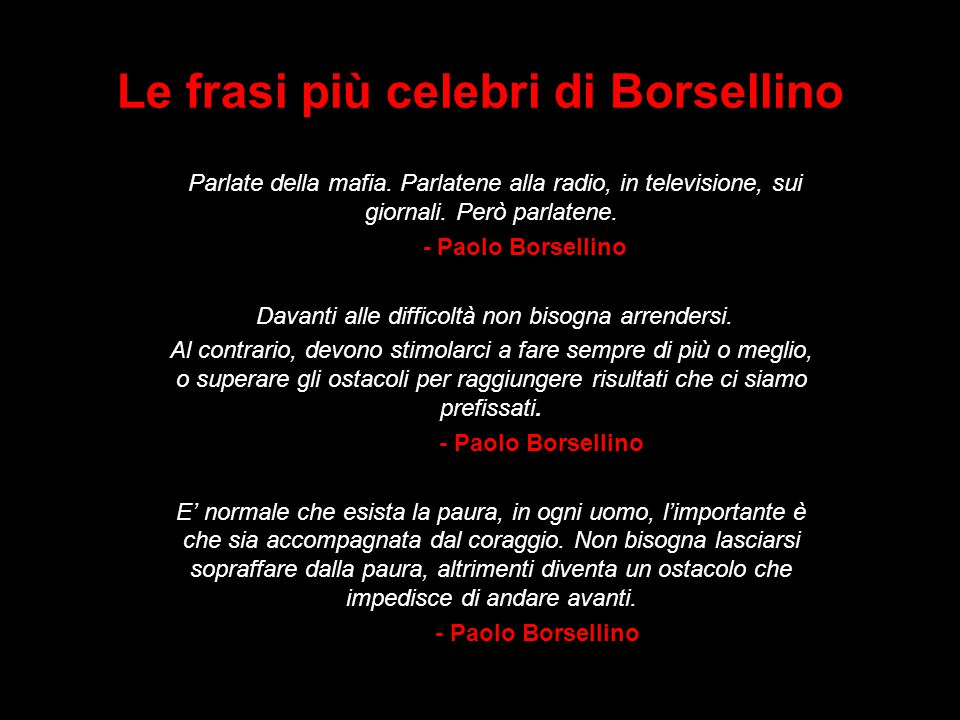 Le frasi più celebri di Borsellino