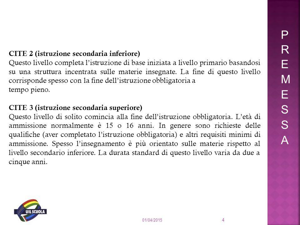PREMESSA CITE 2 (istruzione secondaria inferiore)