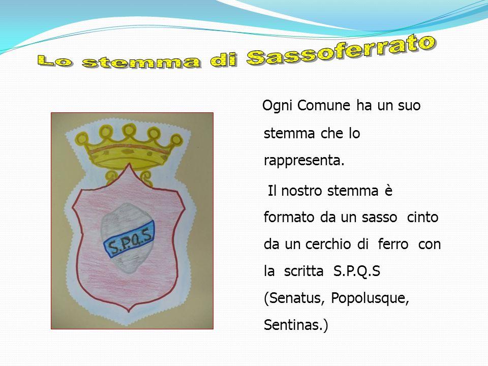 Lo stemma di Sassoferrato