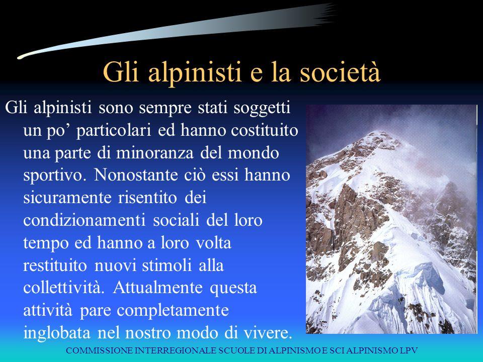 Gli alpinisti e la società