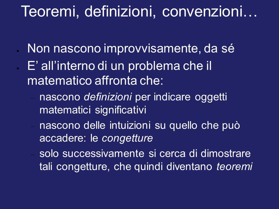 Teoremi, definizioni, convenzioni…