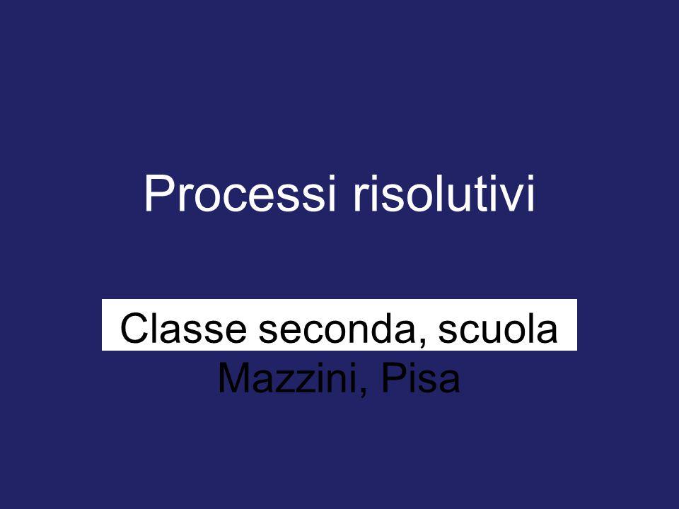 Classe seconda, scuola Mazzini, Pisa
