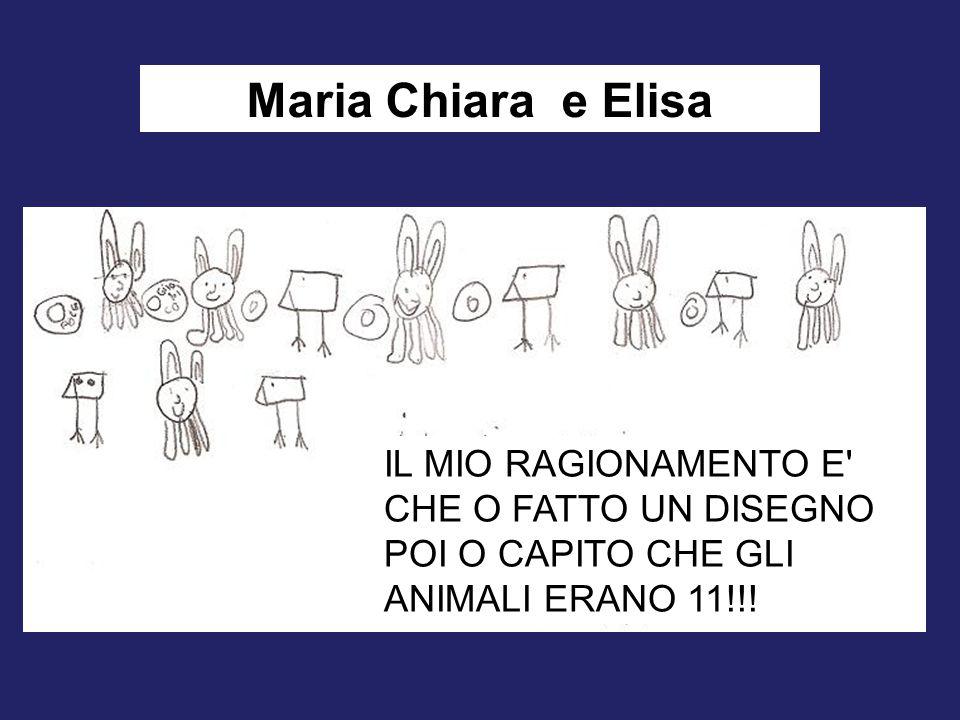 Maria Chiara e Elisa IL MIO RAGIONAMENTO E CHE O FATTO UN DISEGNO POI O CAPITO CHE GLI ANIMALI ERANO 11!!!