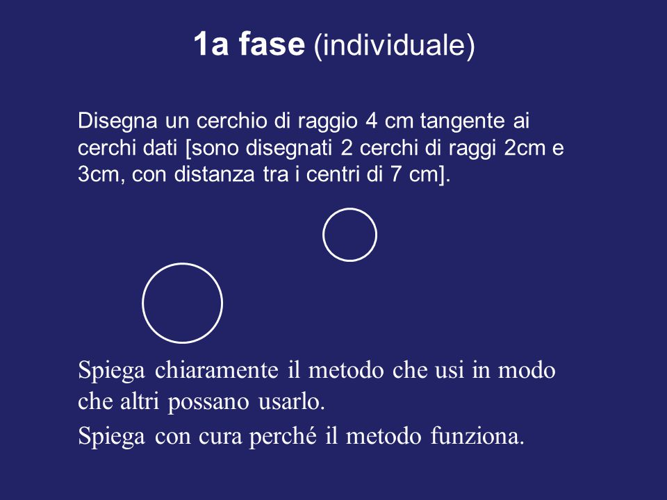 1a fase (individuale)