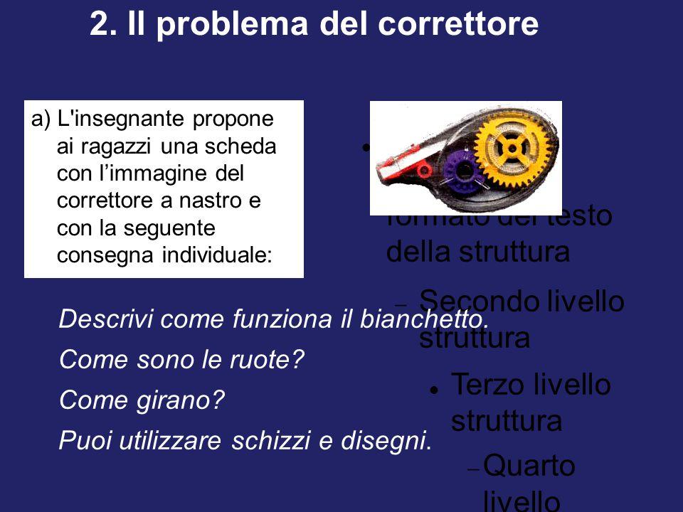 2. Il problema del correttore