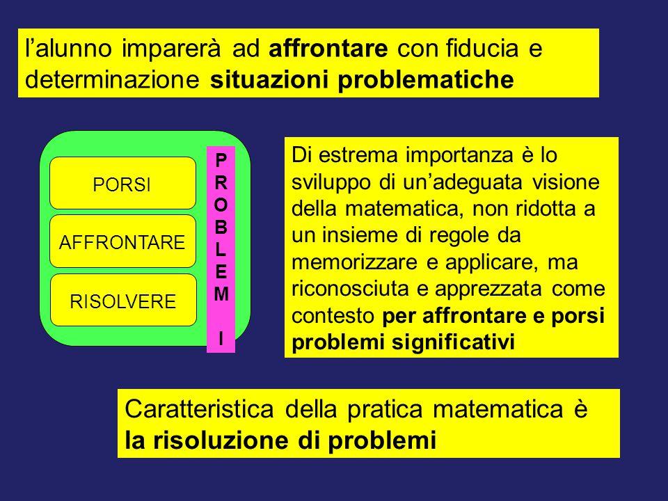 Caratteristica della pratica matematica è la risoluzione di problemi