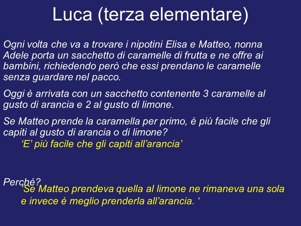 Luca (terza elementare)