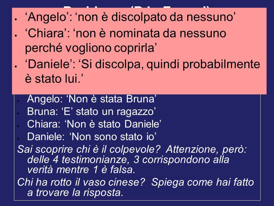Problema (P.L. Ferrari) 'Angelo': 'non è discolpato da nessuno'