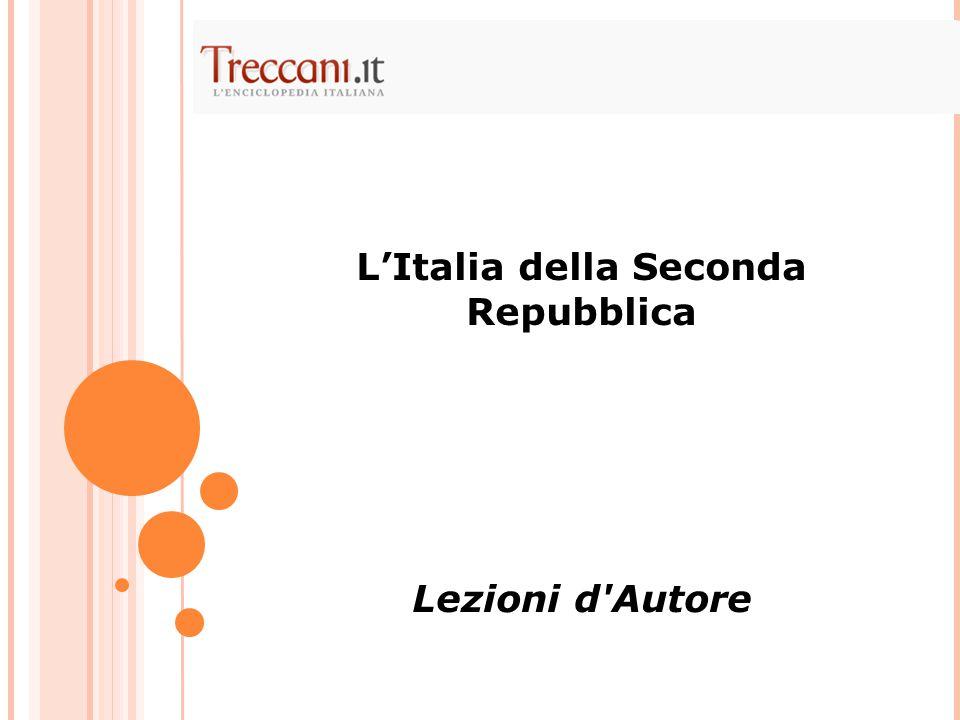 L'Italia della Seconda Repubblica