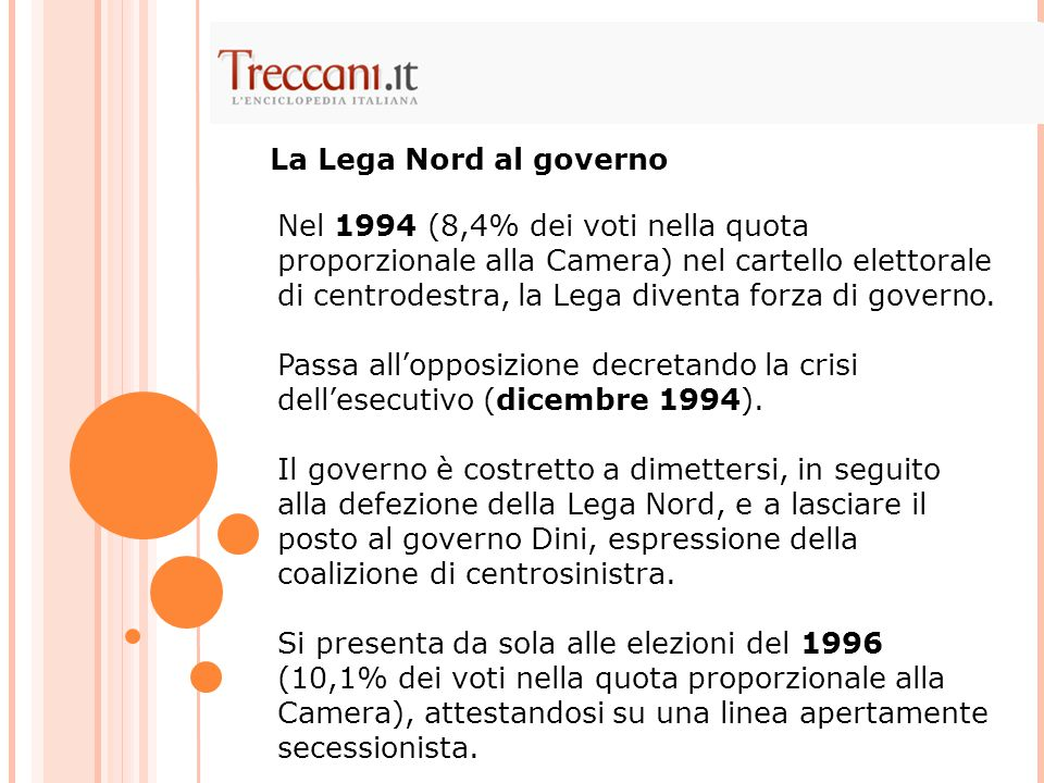 La Lega Nord al governo