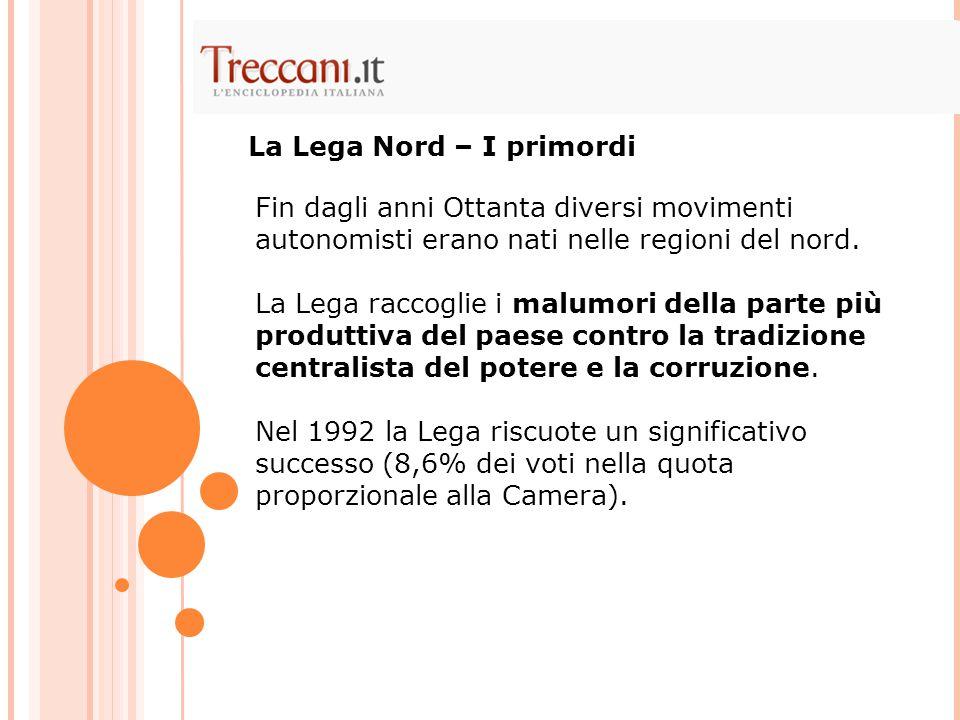 La Lega Nord – I primordi