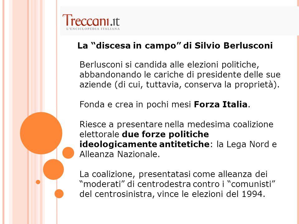La discesa in campo di Silvio Berlusconi