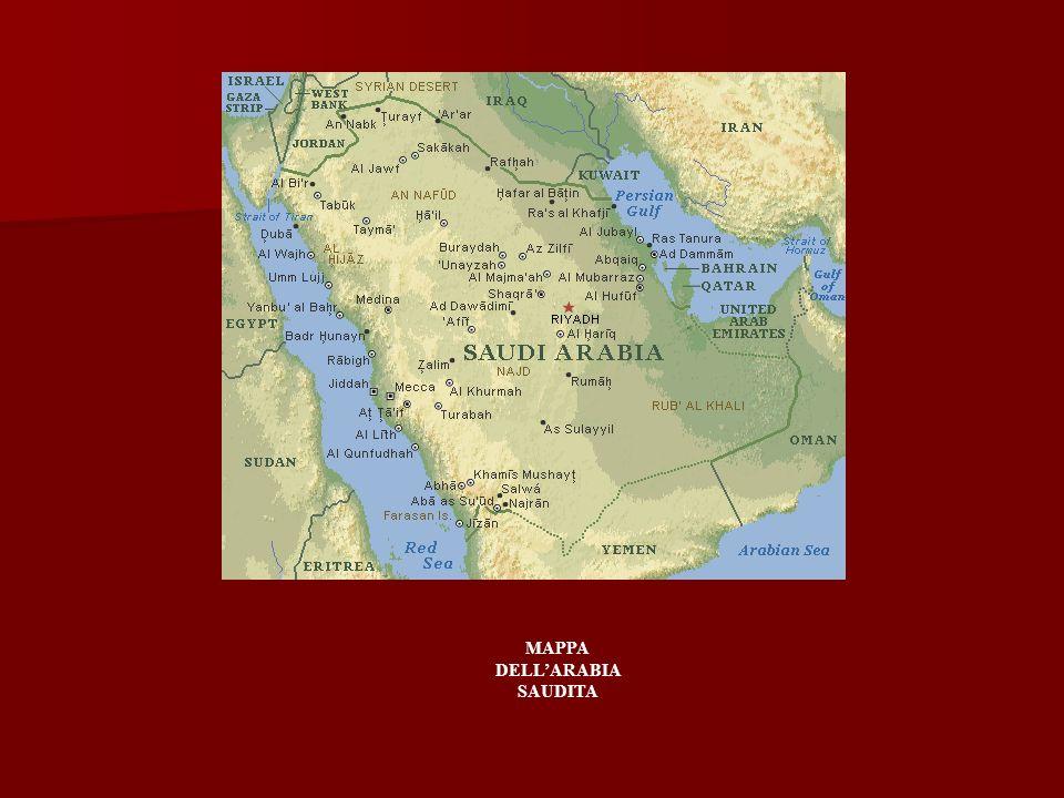 MAPPA DELL'ARABIA SAUDITA