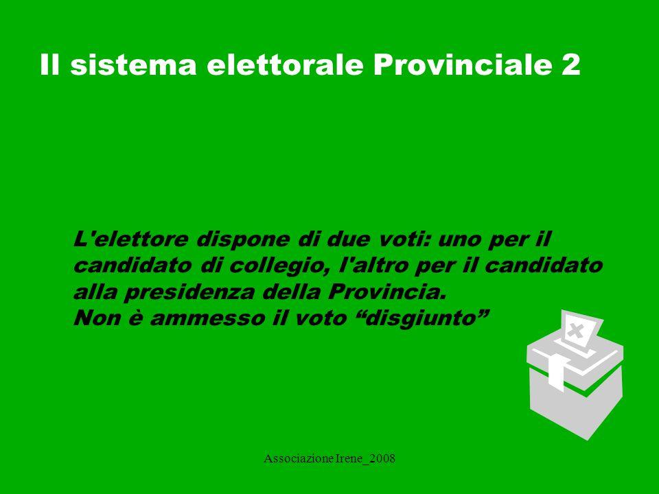 Il sistema elettorale Provinciale 2