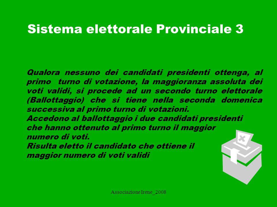 Sistema elettorale Provinciale 3