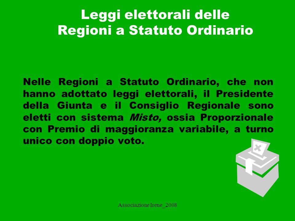 Leggi elettorali delle Regioni a Statuto Ordinario