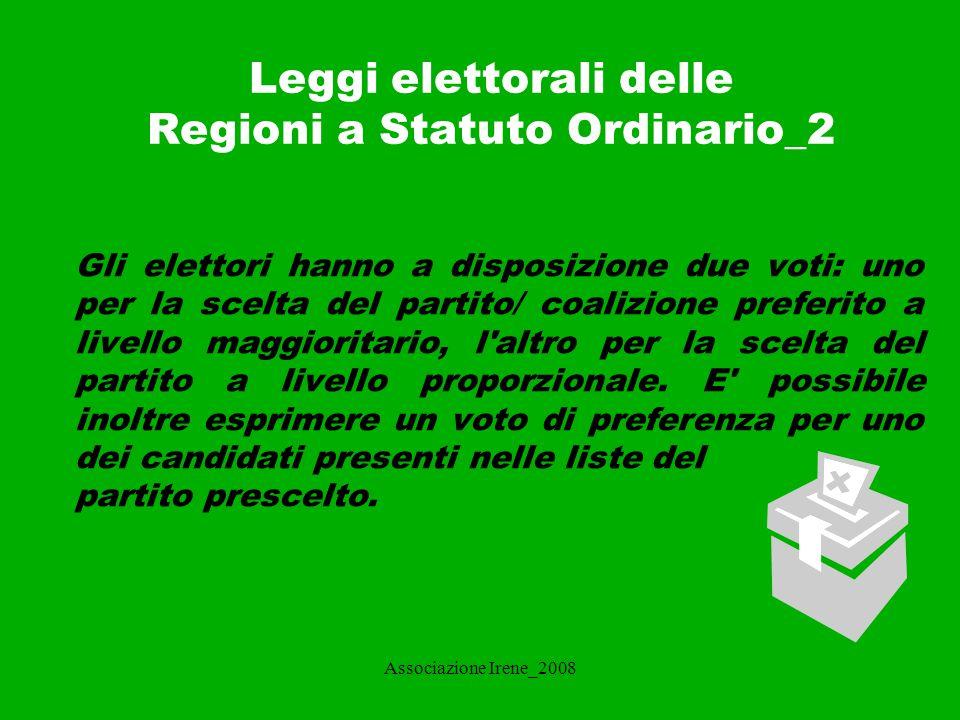 Leggi elettorali delle Regioni a Statuto Ordinario_2