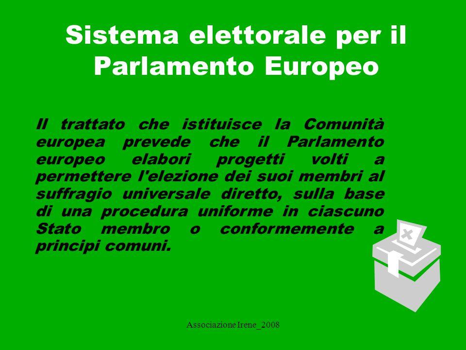 Sistema elettorale per il Parlamento Europeo
