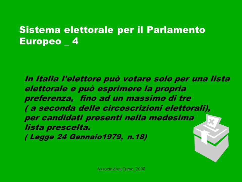 Sistema elettorale per il Parlamento Europeo _ 4
