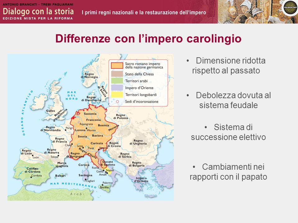Differenze con l'impero carolingio