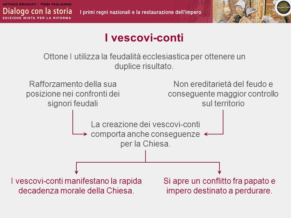 I vescovi-conti Ottone I utilizza la feudalità ecclesiastica per ottenere un duplice risultato.
