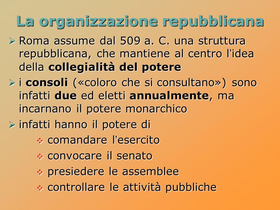 La organizzazione repubblicana