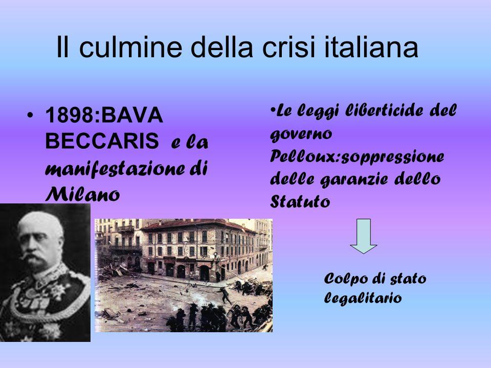 Il culmine della crisi italiana
