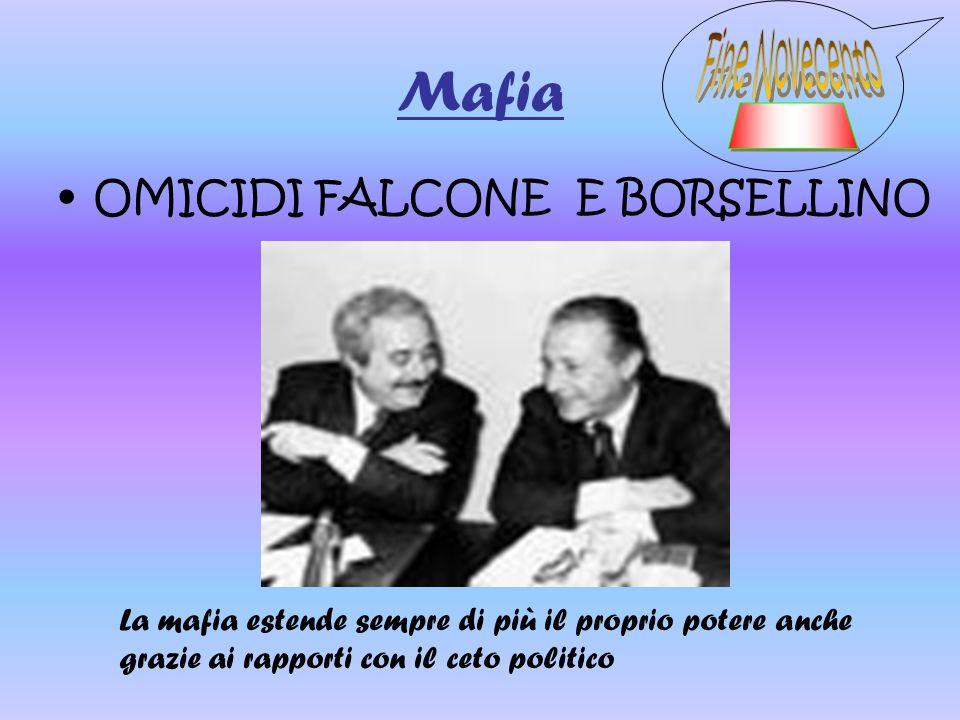 Mafia Fine Novecento _____ OMICIDI FALCONE E BORSELLINO