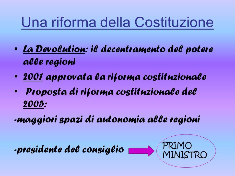Una riforma della Costituzione