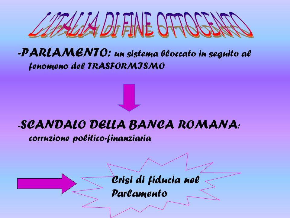 L ITALIA DI FINE OTTOCENTO