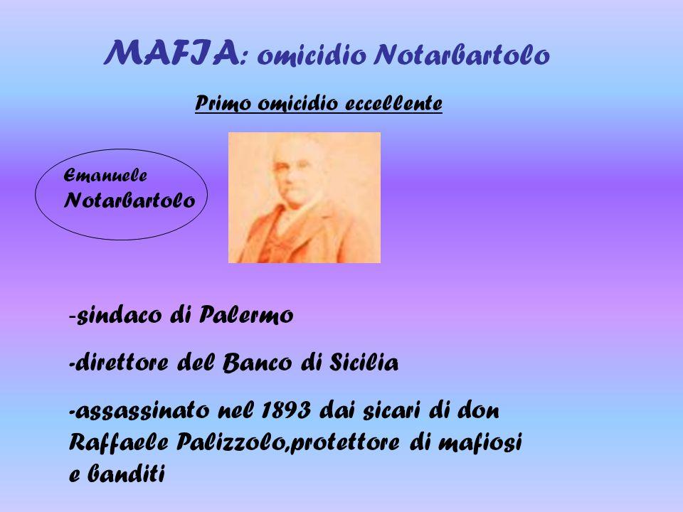 MAFIA: omicidio Notarbartolo