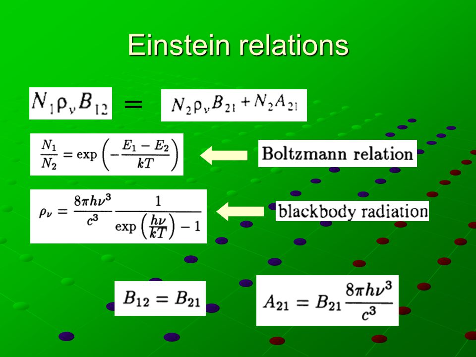 Einstein relations =