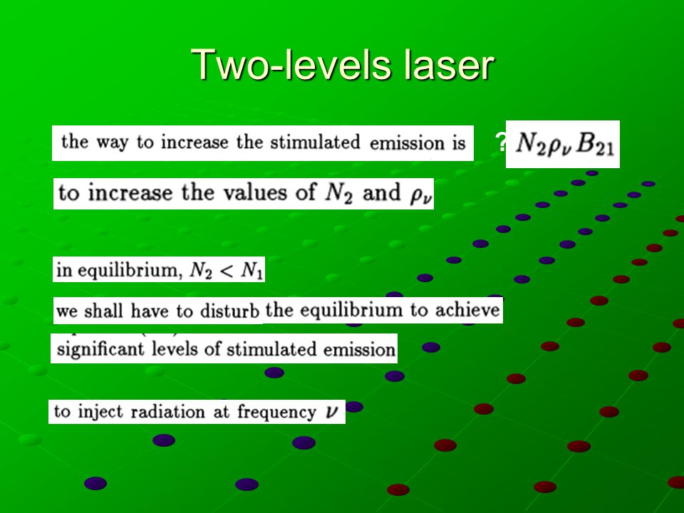Two-levels laser