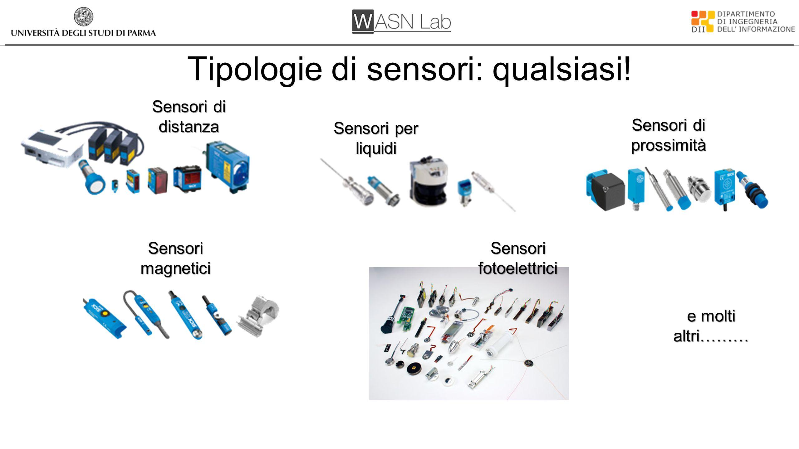 Tipologie di sensori: qualsiasi!