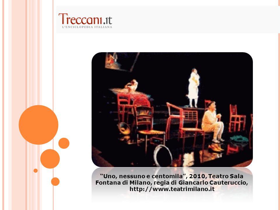 Uno, nessuno e centomila , 2010, Teatro Sala Fontana di Milano, regia di Giancarlo Cauteruccio, http://www.teatrimilano.it