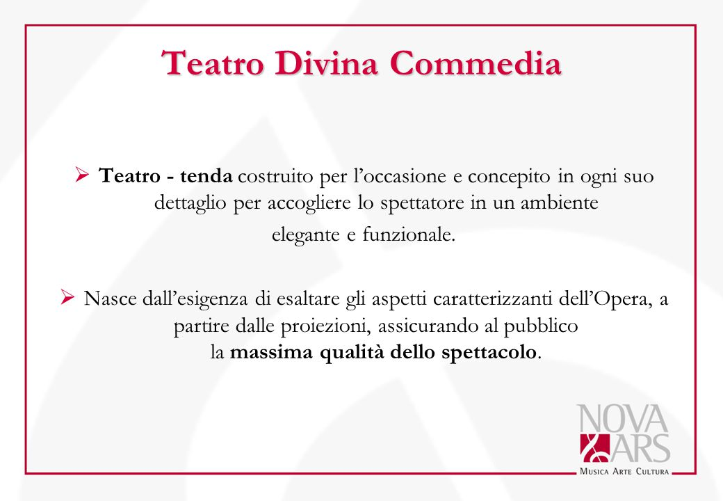 Teatro Divina Commedia