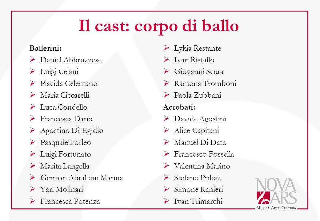Il cast: corpo di ballo Ballerini: Daniel Abbruzzese Luigi Celani