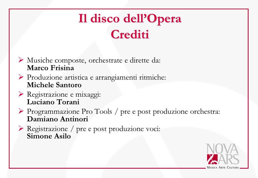Il disco dell'Opera Crediti